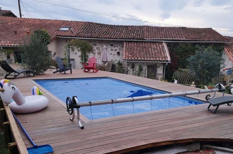 Terrasse Bois et piscine MB Paysage