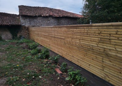 clôture bois en clins