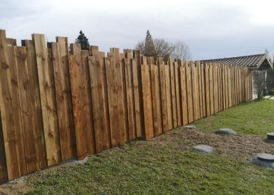 clôture palissade